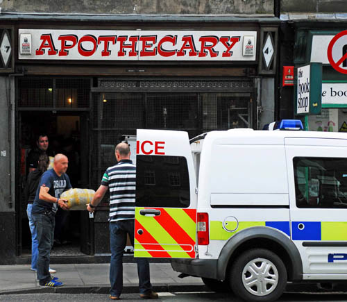 The Apothecary was raided in June last year as part of the investigation into Alex's death