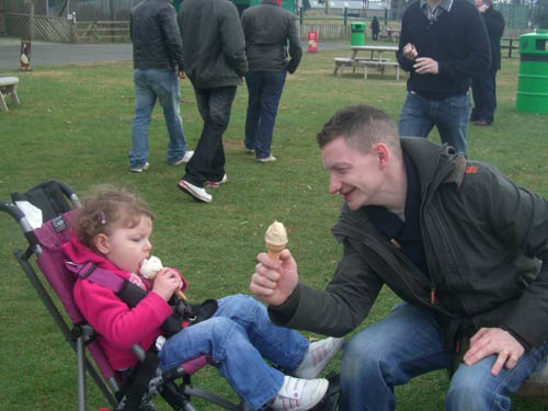 Dad Colin hopes the surgery will successfully reverse the symptoms of Jessica's cerebral palsy