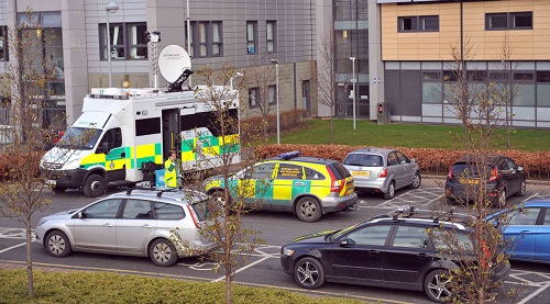 Ambulances and other emergency  services rushed to the college