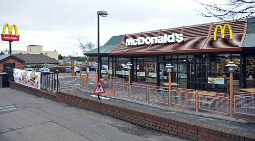 The thefts all took place in the same McDonald's car park