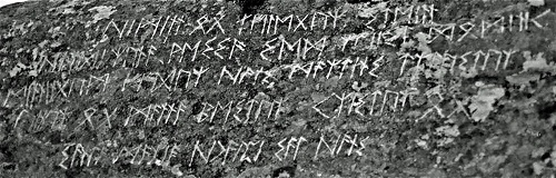 The poem was written in ancient runes