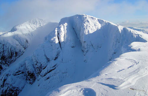 Bidean nam Bian where four climbers died in January