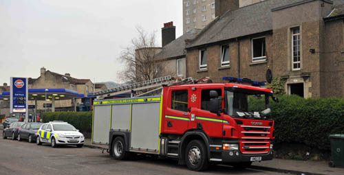 Emergency services were scrambled to Restalrig Road in the early hours of Monday morning