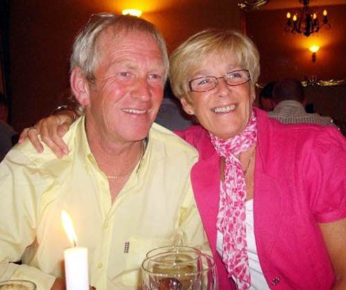 Mr Bowan with his wife, Anne, at his 60th birthday party