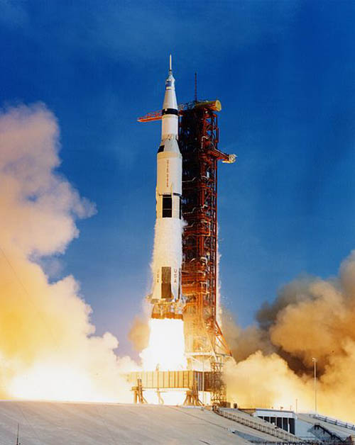 The Saturn V was used in the US Moon landing mission