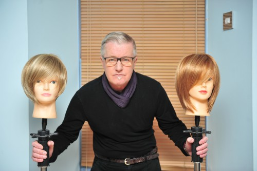The salon trimmed and fitted wigs for patients who had lost their hair through cancer treatment or other illnesses.