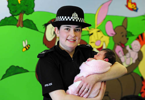PC Charlotte Work gifted the rescued baby her own childhood toy