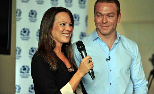 Sarra and her husband, Sir Chris Hoy