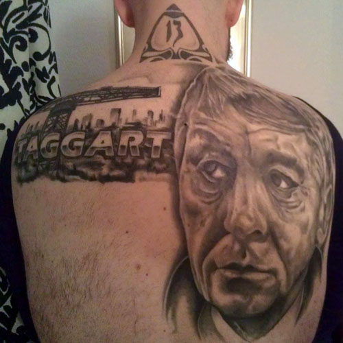 "Mr Cuthbert's Taggart tattoo was described as the ""perfect embodiment of a Scottish tattoo"" by organisers."