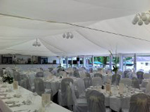 """The new lights cover the entire ceiling of the marquee and the effects are magical and make the setting really romantic. We're delighted with the results and feel sure this will make Hamilton Park Racecourse even more popular as a wedding destination."""
