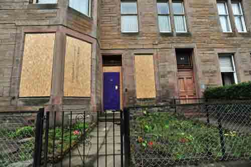 Marilyn McLellan's body was found in a communal garden behind her flat in Marchmont, Edinburgh