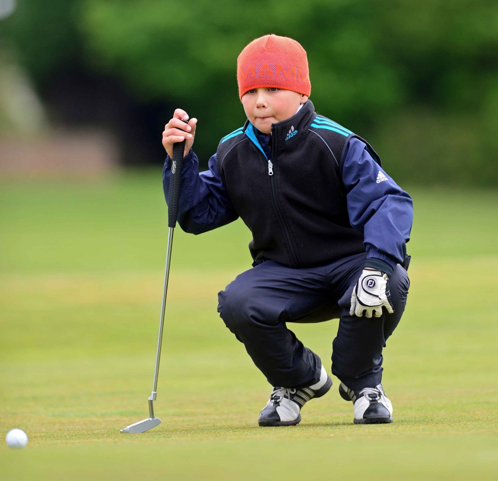 Anna Kournikova's eight-year-old brother Allan is among 520 youngsters vying for the championship at a top junior golf tournament