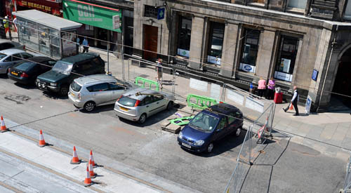 Motorists in Edinburgh face daily charges of around £20 to park - unless they work on the trams