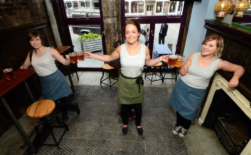 At just 17ft by 14ft, the pub doesn't even have room for a conventional bar