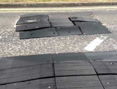 The bumps lift up and rip out the underside of unsuspecting motorists' vehicles, it is claimed