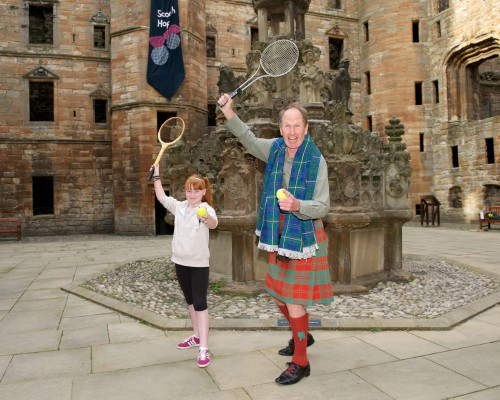 John Carswell of the Linlithgow Hop Scotch limbers up for the dance