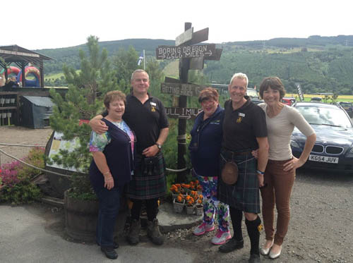 A DELEGATION from the Australian district Bland have paid a visit to the Perthshire village Dull