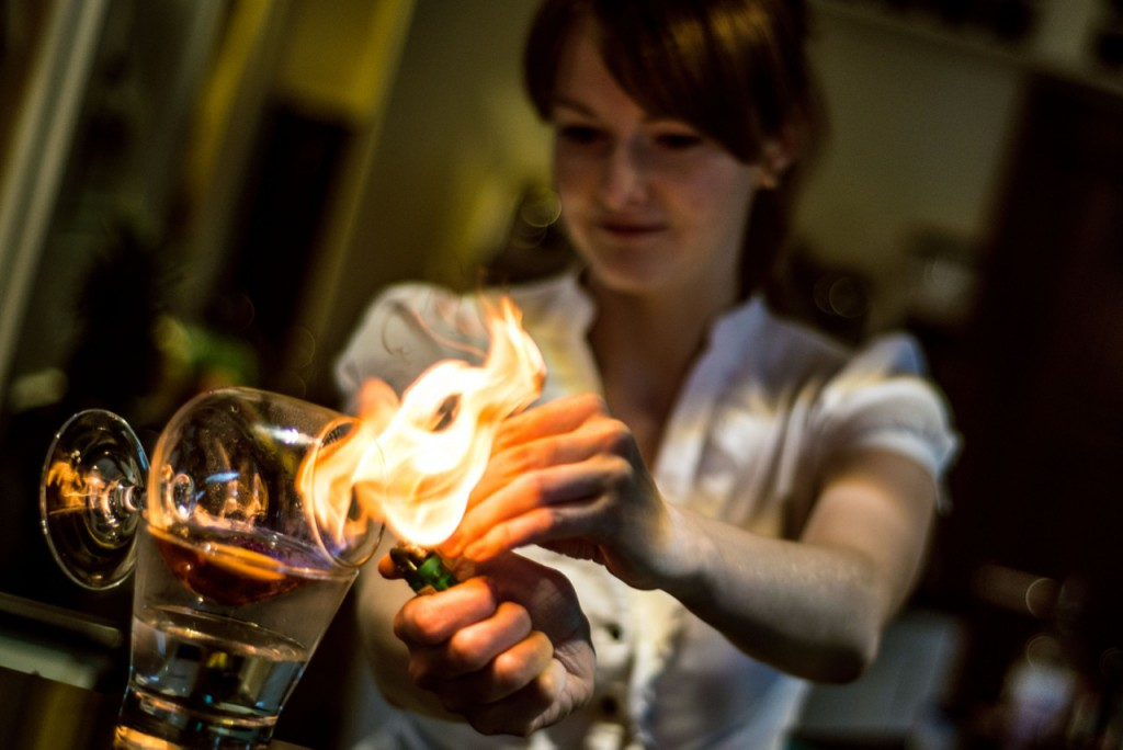 Flaming Indian Cocktail