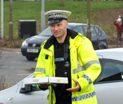 Even members of the local constabulary struggled to resist the lure of doughnuts