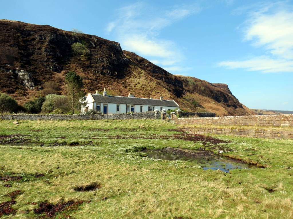 The cottage has stunning coastal views