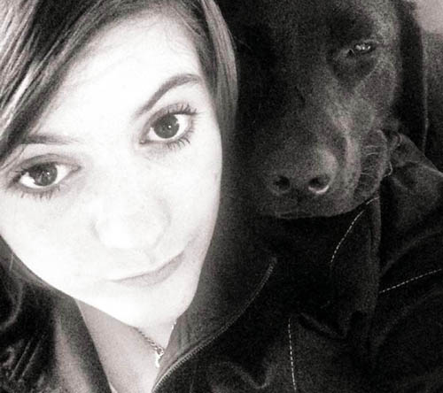 19-year-old Erin Mapstone who was trapped inside the house with dog Lexi, who died of smoke inhalation