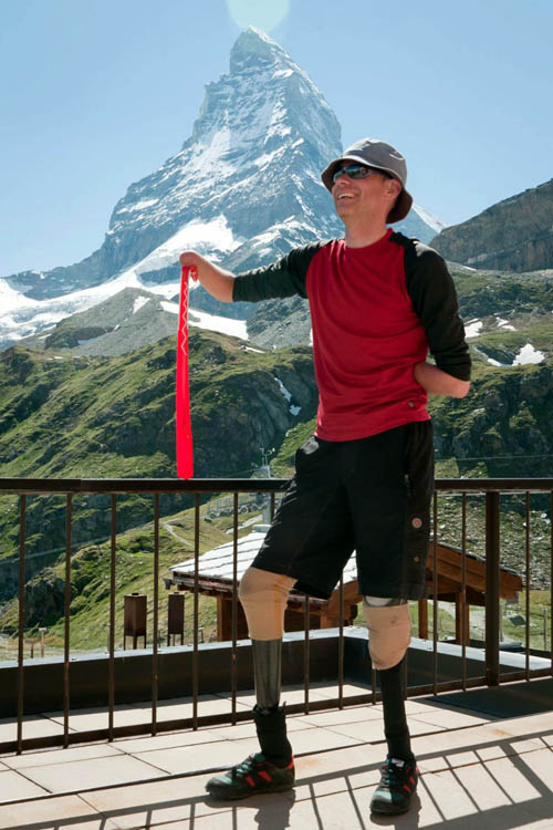 Jamie Andrew came within 250 metres from the Matterhorn's summit