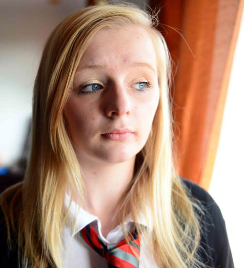 The 14-year-old from Kirkcaldy, Fife, went missing for several hours as a result of her condition
