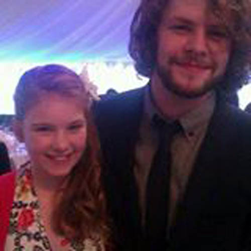 Jay McGuinness of The Wanted was among the guests in the hastily rebuilt marquee