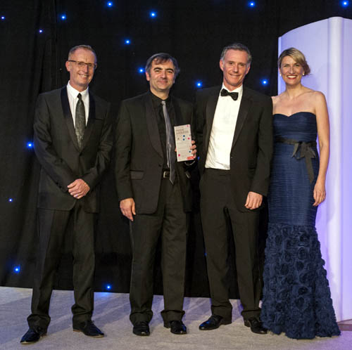 """Raymond Notarangelo and Scott Douglas (centre) - """"thrilled to be recognised for our leading-edge work"""""""