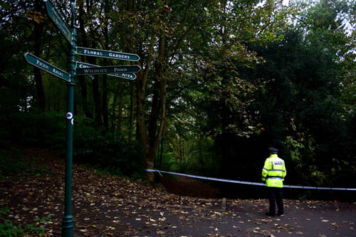 Officers cordoned off the park and the surrounding area