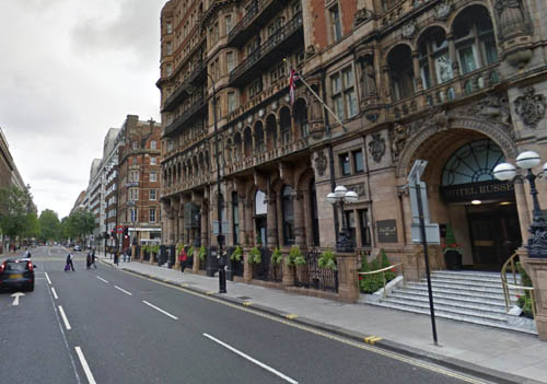 NHS Fife paid for patients to stay at the four star Hotel Russell in London. (Pic: Google)