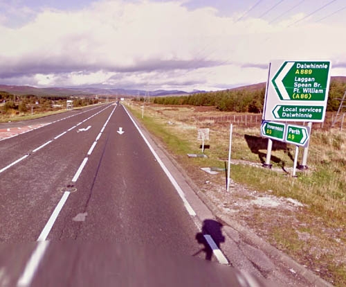 "One sign had to be redone after Transport Scotland dropped the ""h"" in Dalwhinnie"