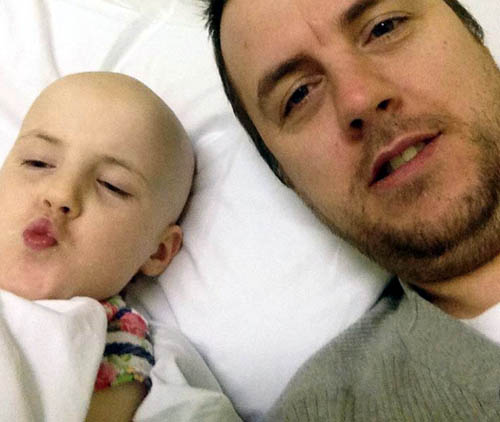 Jason is donating stem cells to Mackenzie in a £300,000 procedure never before tried north of the border