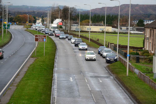 Huge traffic jams built up on the M8, M9 and M90 as a result of the shooting