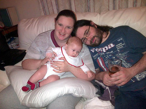 Charity worker Diane Balneaves, 30, gave birth to baby Calum five months ago