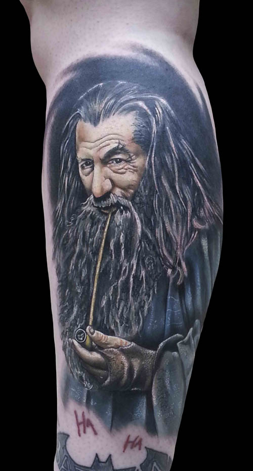 Gandalf from Lord of the Rings, showing the artist's skill