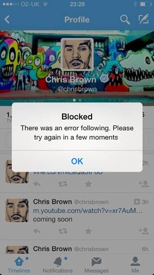 Boyle posted a screengrab of Boyle's blocking notice