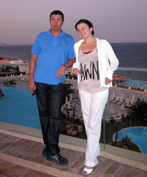 Yulia's father, Dmitry, flew to Scotland to visit his daughter but instead spent his time waiting for news