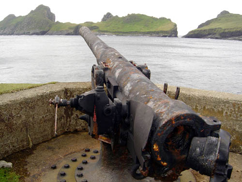 This gun was put in place in the aftermath of the U-boat raid which took place following Herr Flick's stay on the island.