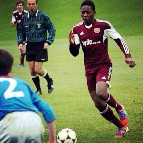 Jamie was a talented footballer who had recently been asked to trial for Tynecastle FC under-14s