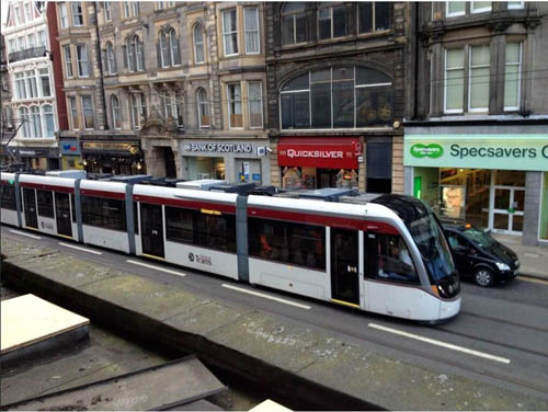 People in Shandwick Place shared their overwhelming joy at finally seeing a moving tram