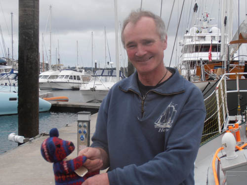Andrew Halcrow had to be rescued by the Chilean navy