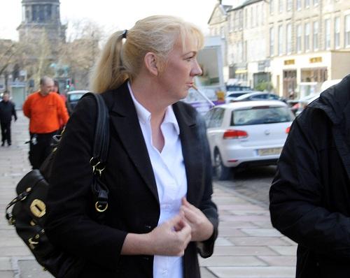 Janette Burrell outside the hearing in Edinburgh