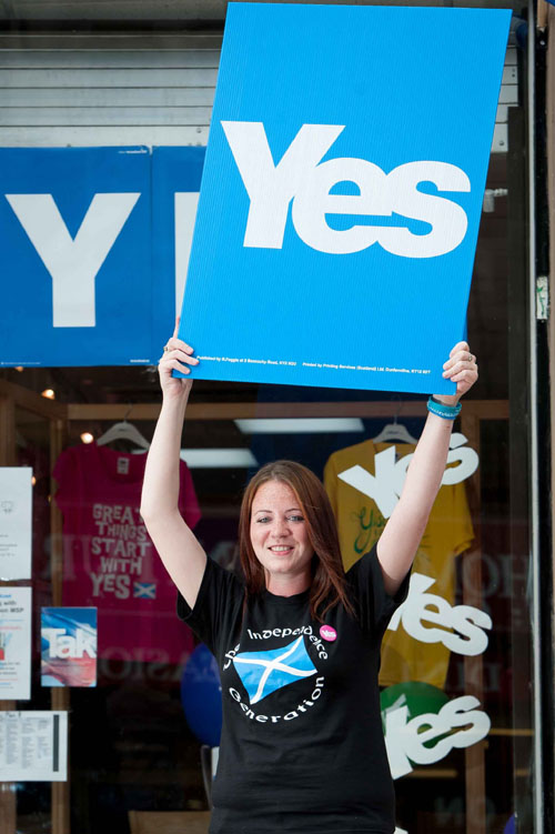 Yes campaigner in Fife