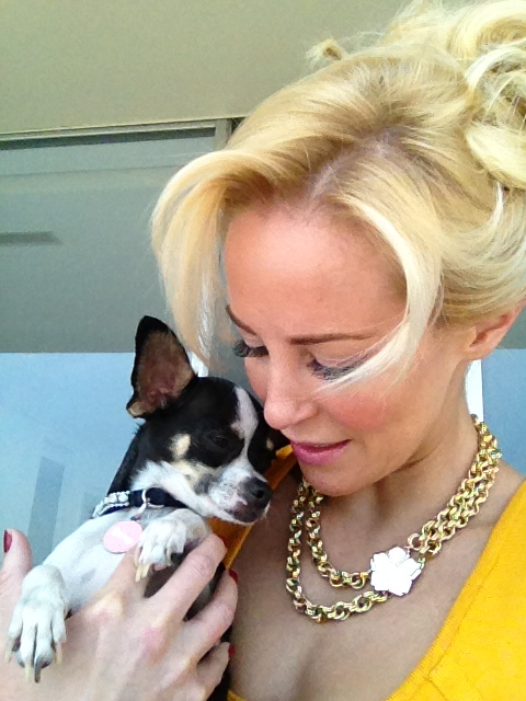 Hollywood  actress lousie linton and her dog