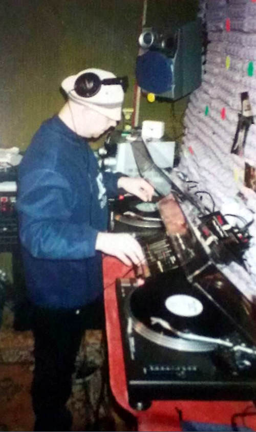 Vince spent much of his time in the shed listening to music