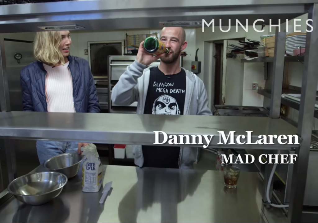 Danny McLaren aka 'The Mad Chef' features in the documentary proclaiming his love for Buckfast