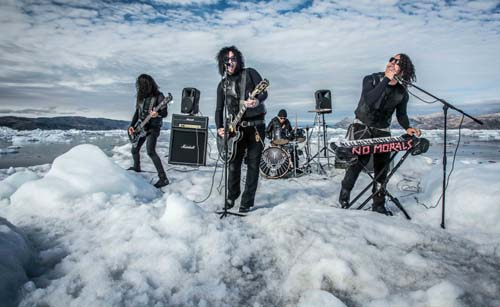 The Defiled play the first ever gig on an iceberg in Greenland.