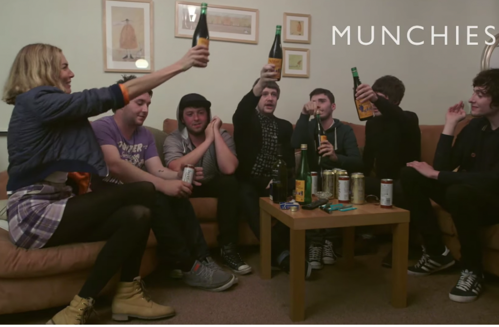 Duboc joins the group as they have a toast for their love of Buckfast