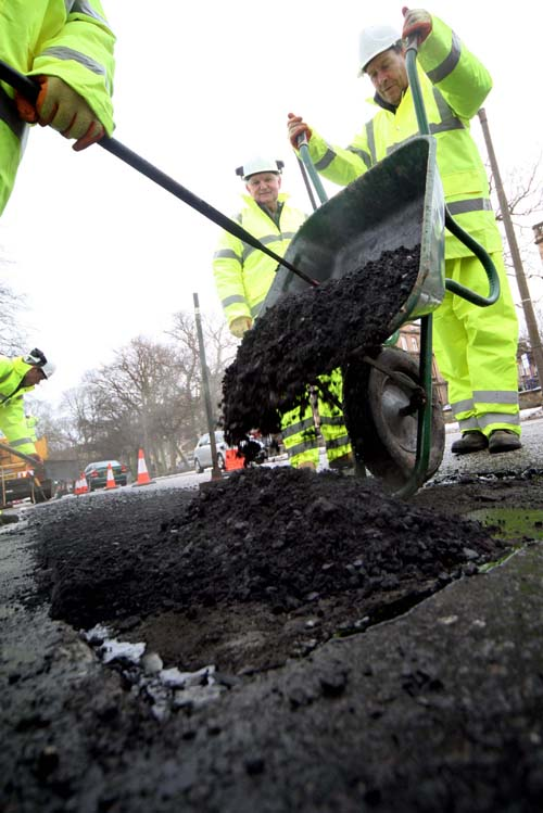 Since 2007 the cost of filling potholes has totaled over £57 million.